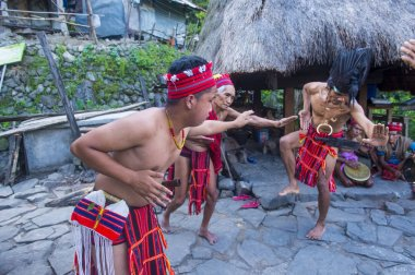 BANAUE, PHILIPPINES - MAY 02 : People from Ifugao Minority in Banaue the Philippines on May 02 2018. The Ifugao minority mostly live in the mountains of north Philippines