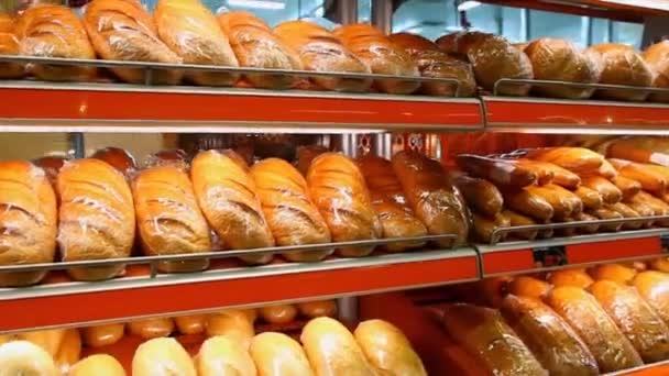 Show-window with fresh bread
