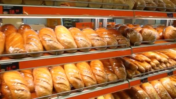 Show-window with fresh bread