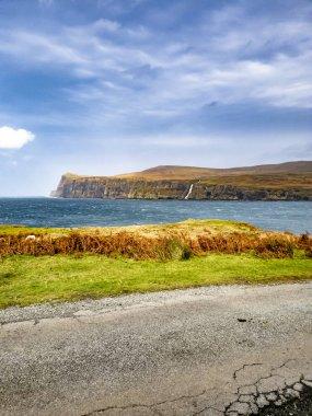 Cliffs seen from Lower Milovaig during the autumn storm Callum - Isle of Skye, Scotland