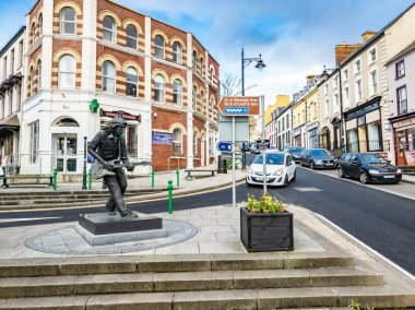 Ballyshannon , Ireland - February 20 2019 : Ballyshannon is located at the southern end of the county Donegal and birth place of Rory Gallagher