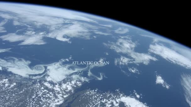 The Atlantic ocean seen from space - Some elements furnished by NASA