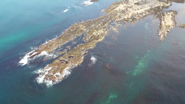 Aerial view of the reef by Carrickfad at Narin Beach by Portnoo County Donegal, Ireland