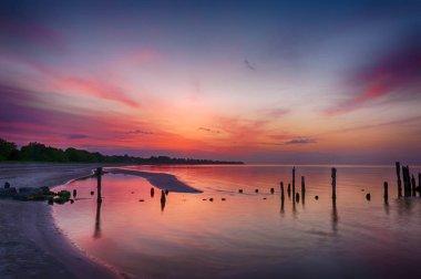 Old pier in Latvian Baltic sea