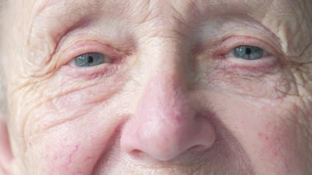 Close up portrait of a senior caucasian womans face