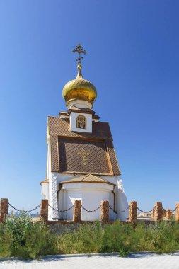 The new chapel is the Church of St. Nicholas on the edge of Cape Bolshoy Atlesh. Crimea, Ukraine