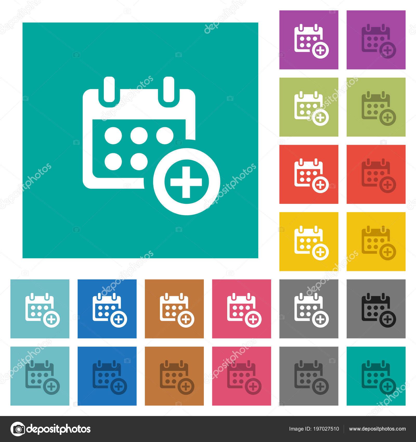 Anadir Calendario.Anadir Calendario Multi Coloreada Planos Iconos Fondos