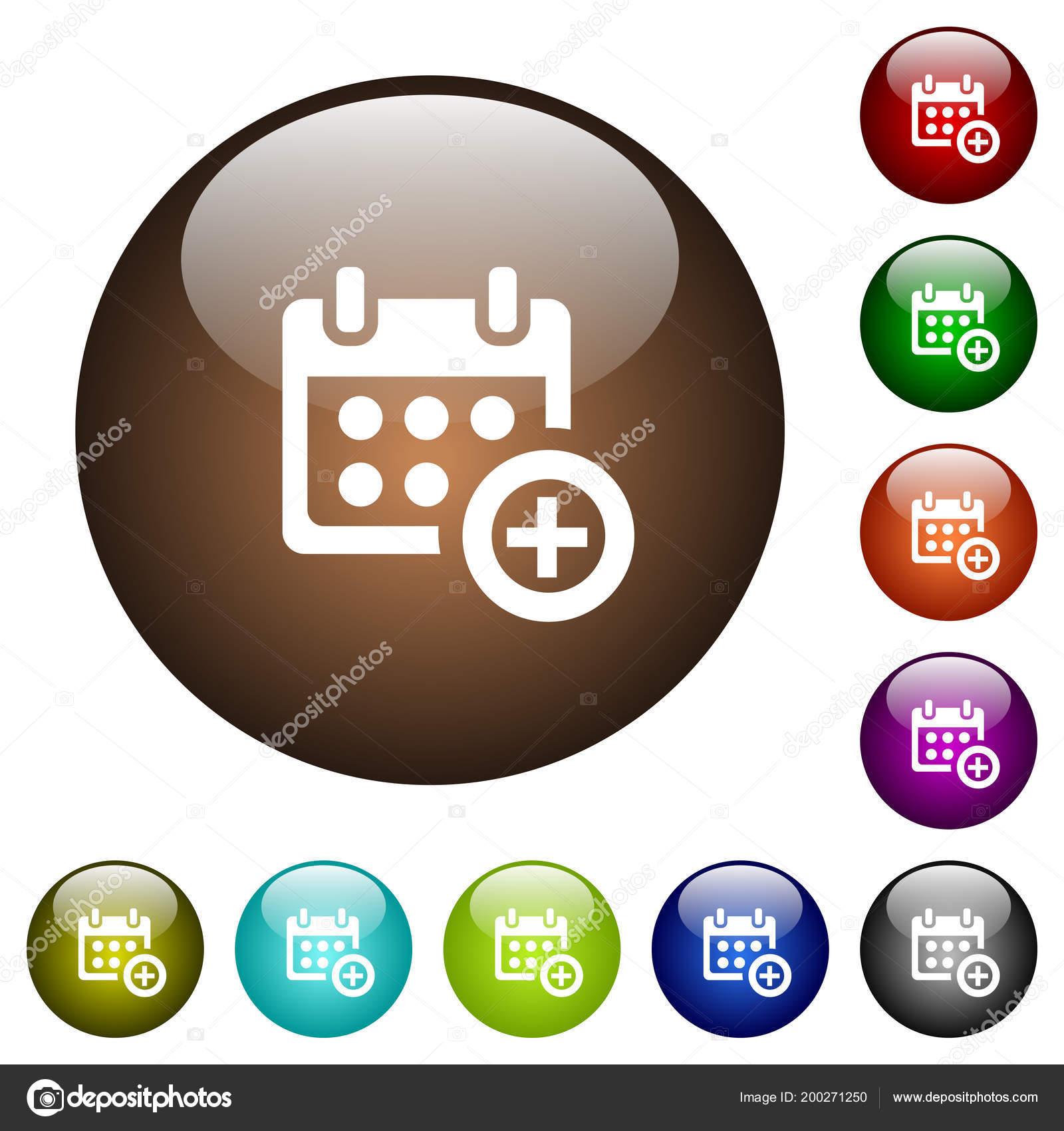 Anadir Calendario.Anadir Calendario Blanco Iconos Botones Cristal Color