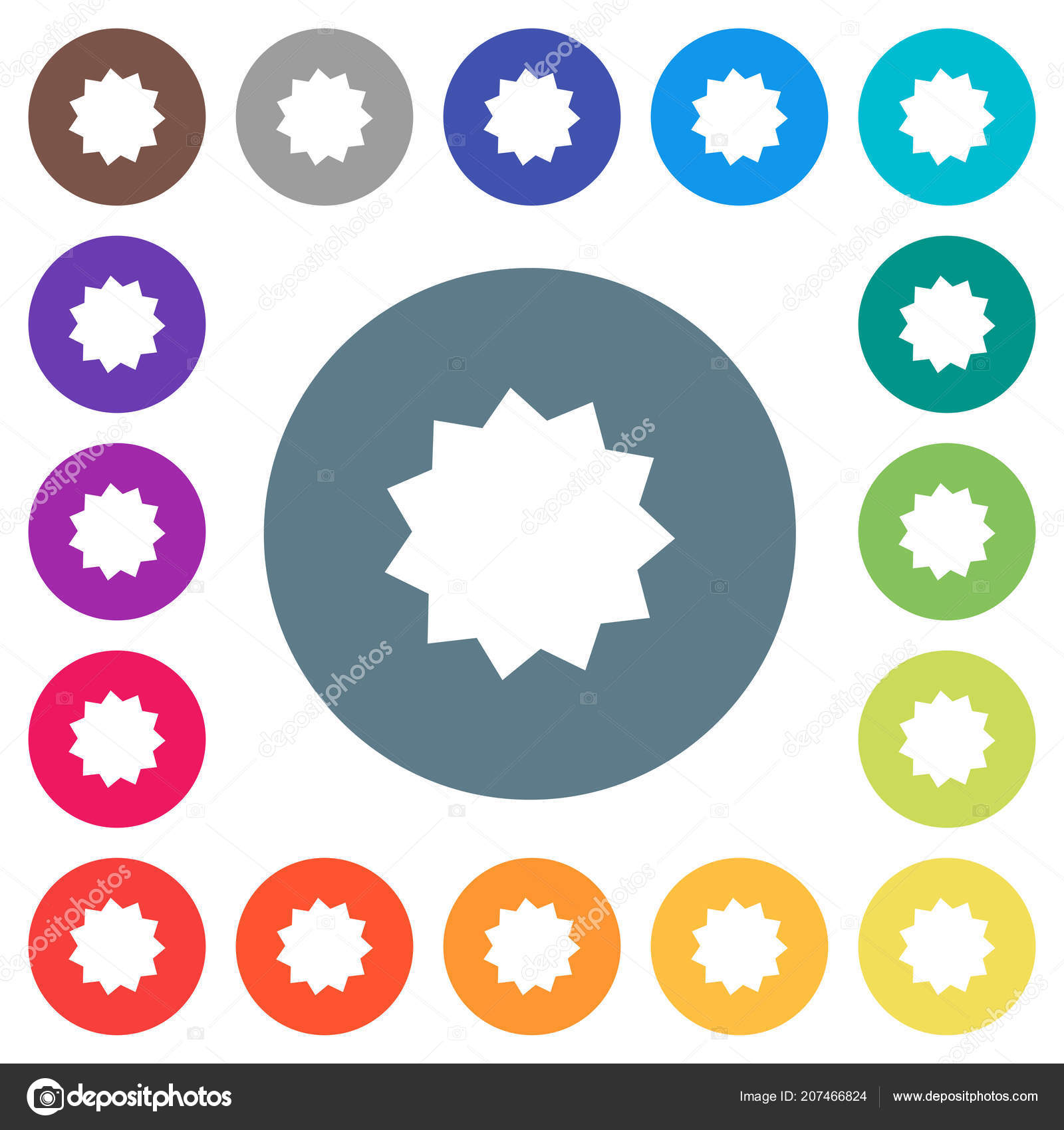 certificate sticker flat white icons color backgrounds background