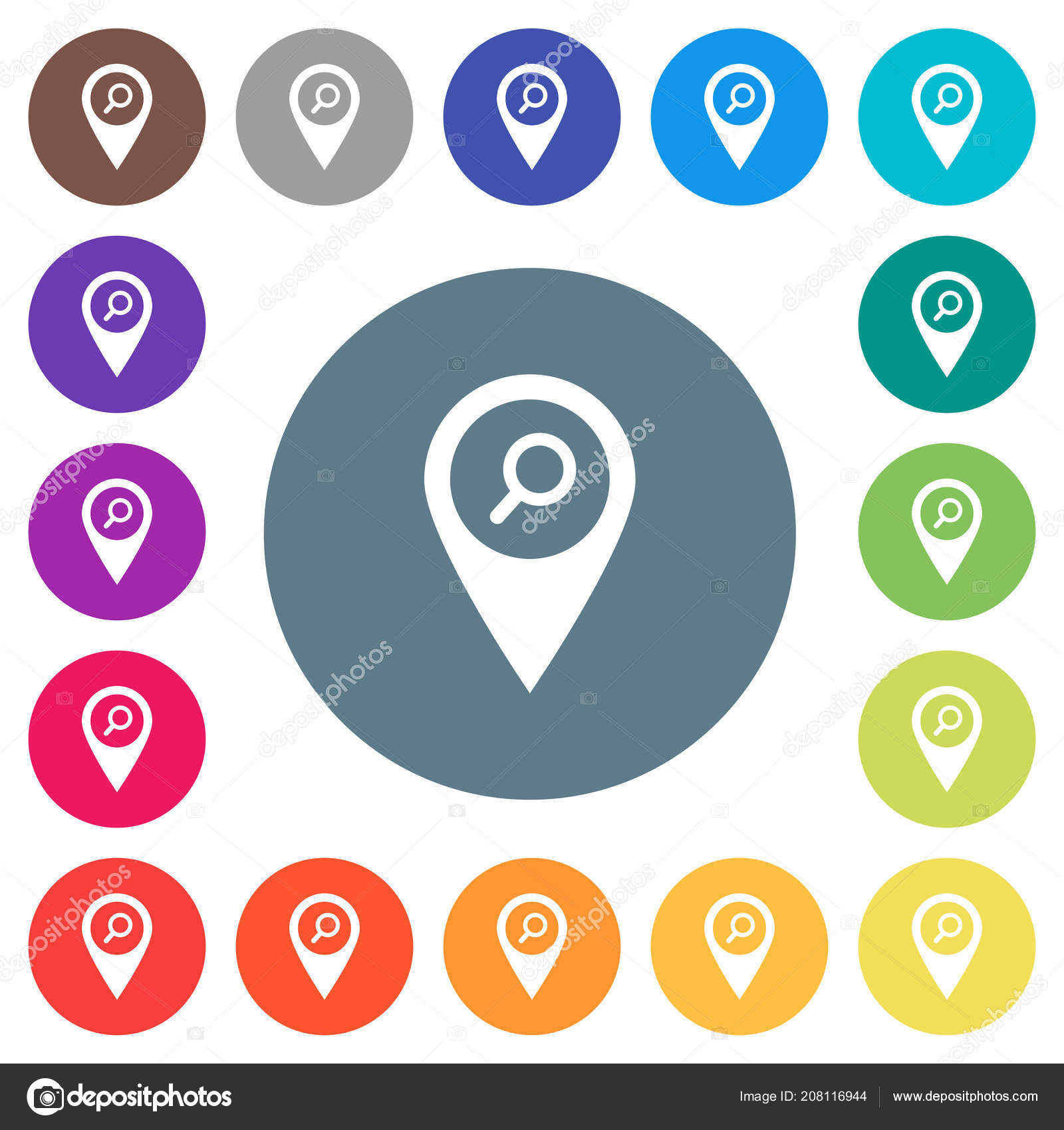 find gps map location flat white icons color backgrounds background