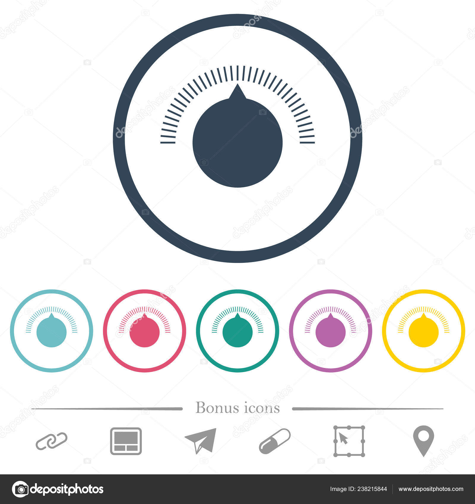 Volume Control Flat Color Icons Outlines Bonus Icons
