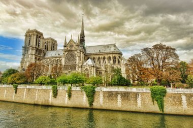 Notre Dame cathedral church in Paris city, France