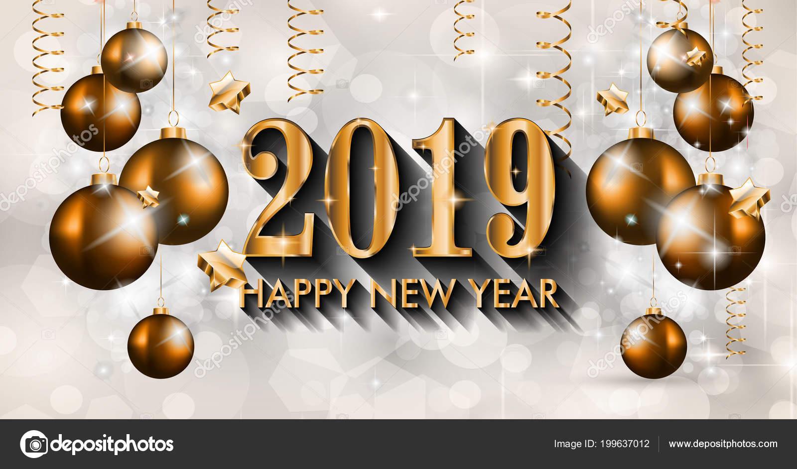 Descargar Felicitaciones De Navidad Y Ano Nuevo Gratis.2019 Feliz Ano Nuevo Fondo Para Tus Invitaciones Tematicas