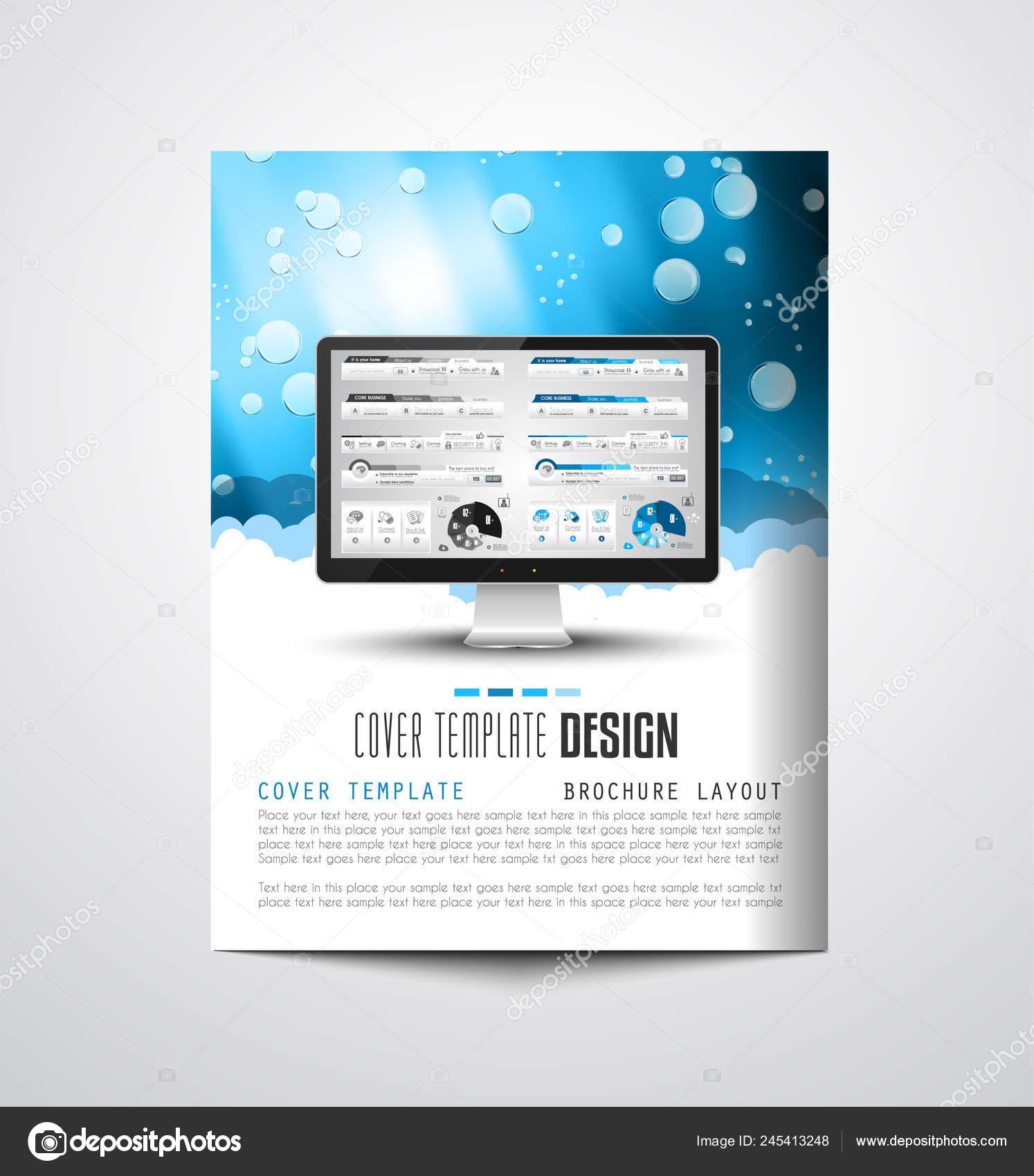 Brochure Template Flyer Design Depliant Cover Business