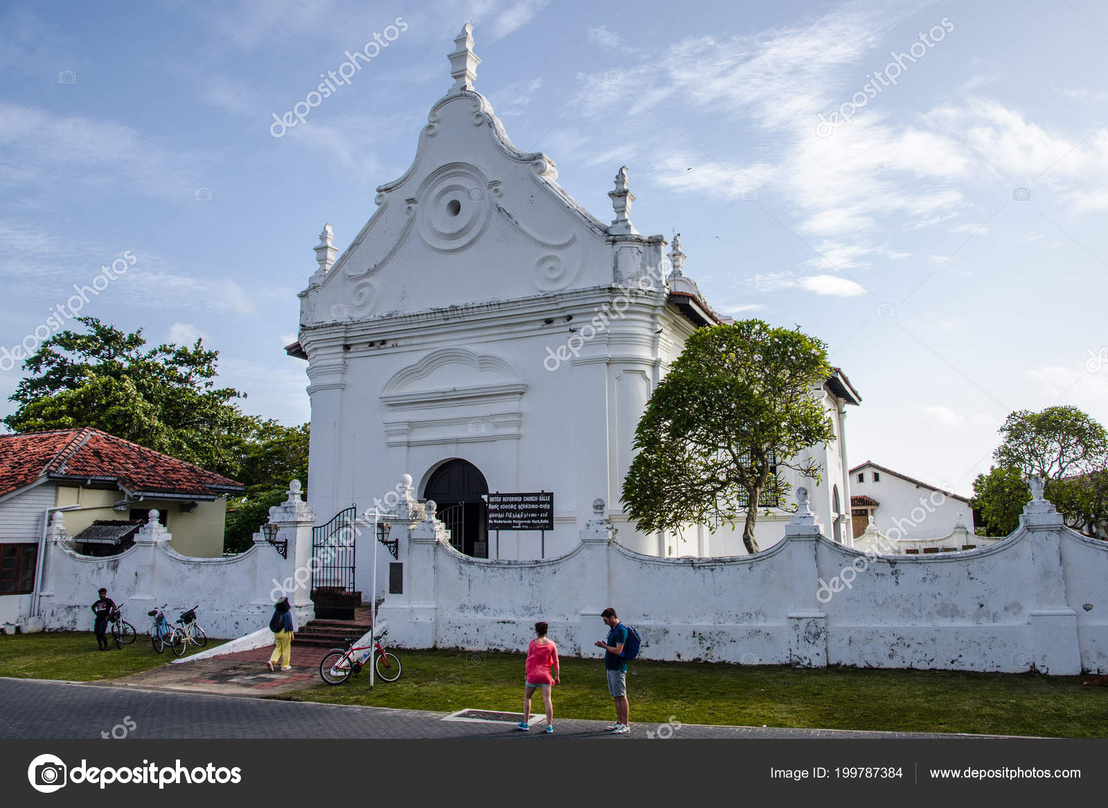 galle sri lanka dutch reformed church city galle country sri stock