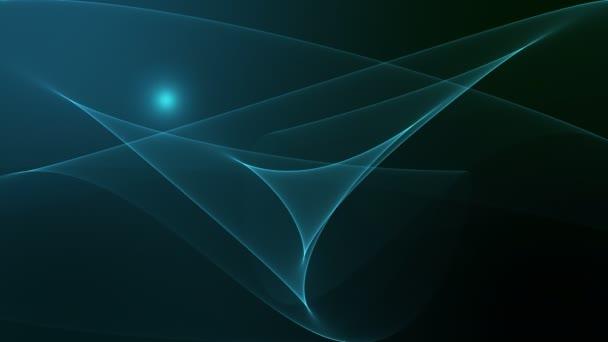 Modré abstraktní vlna na pozadí s přechodem