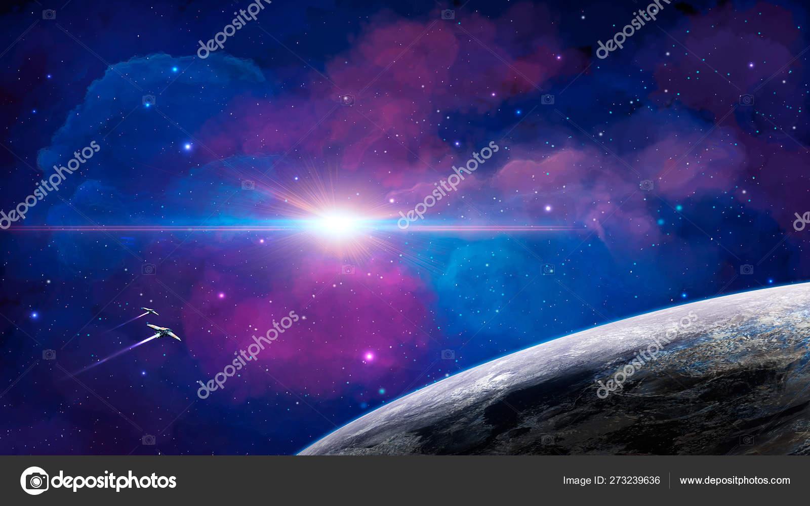 Обои огненный хвост, астероид, планеты. Космос foto 16