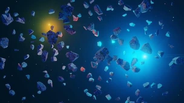 Panoramatický vesmírná scéna. Pozemská planeta s planetou a mlhovinou. El