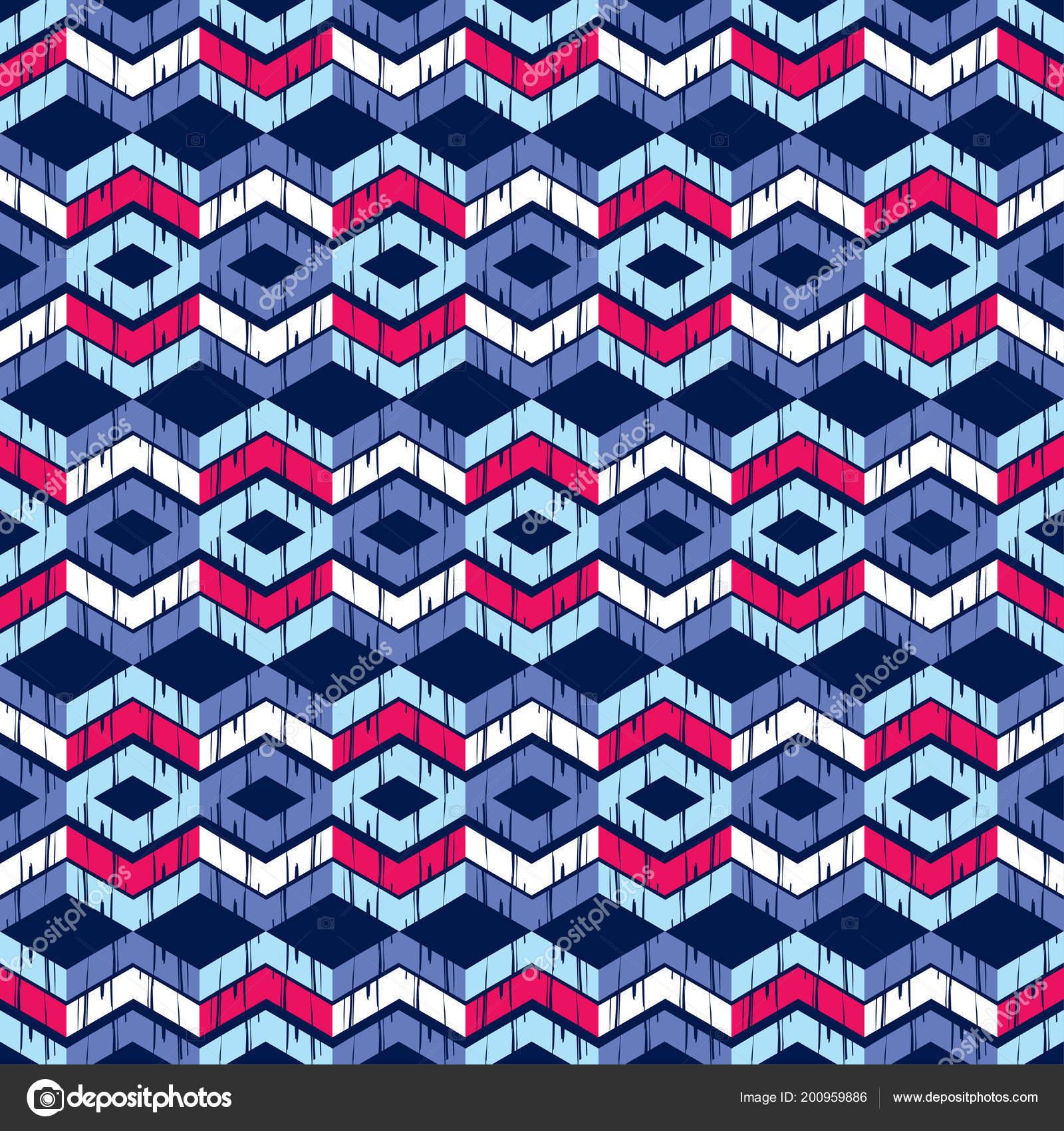 Ethnic Boho Seamless Pattern Traditional Ornament Geometric Background Tribal Pattern