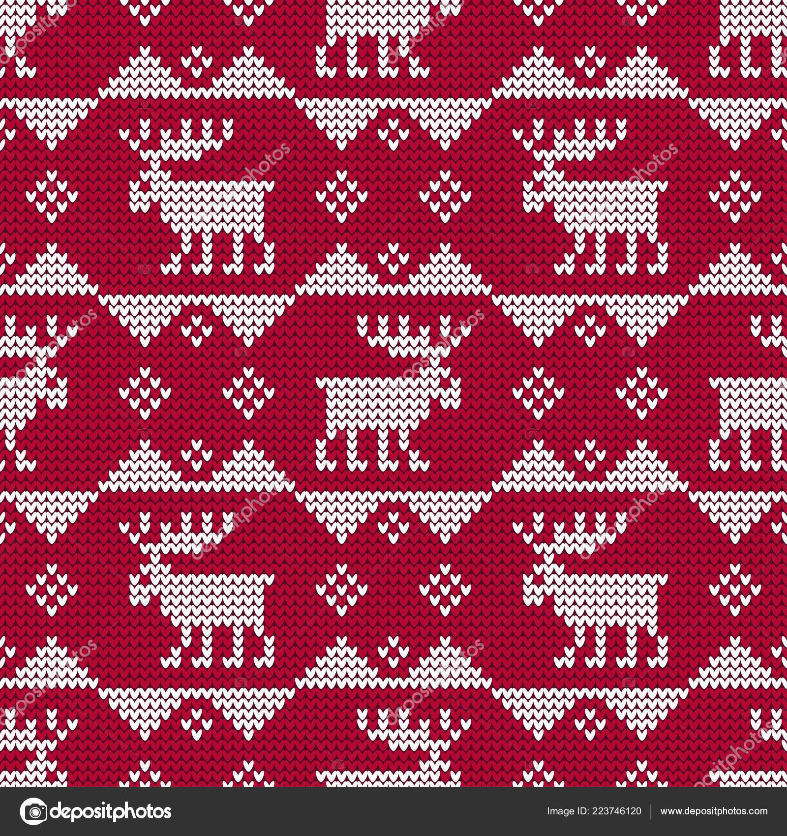 2b5de8497e5e A knitted sweater with Reindeer. Seamless vector background. Christmas  pattern. Can be used for wallpaper