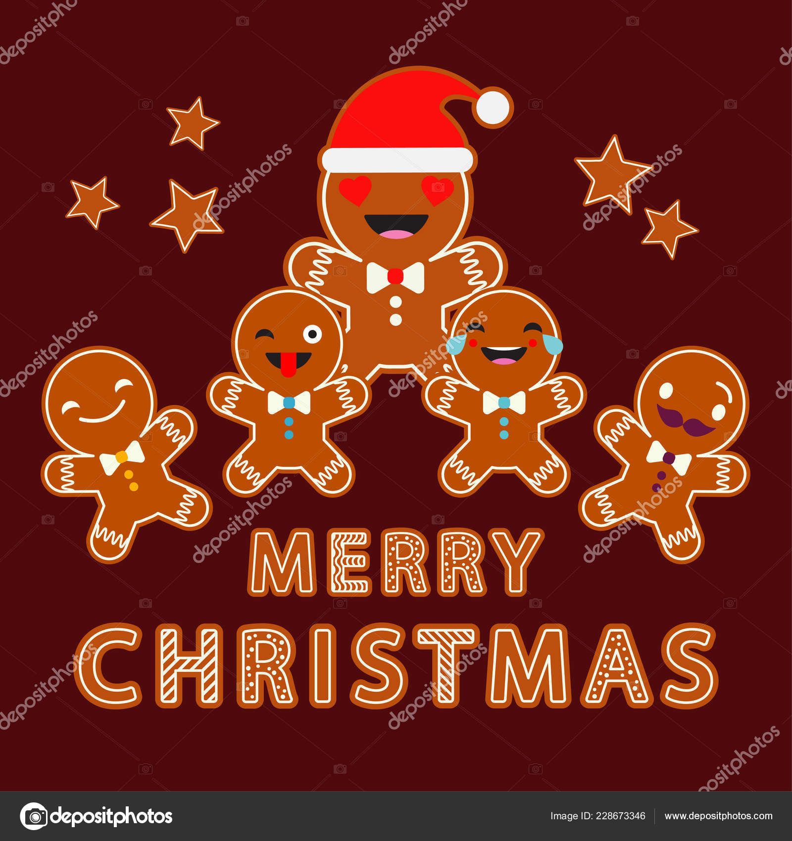 depositphotos 228673346 stock illustration gingerbread brown background christmas gingerman