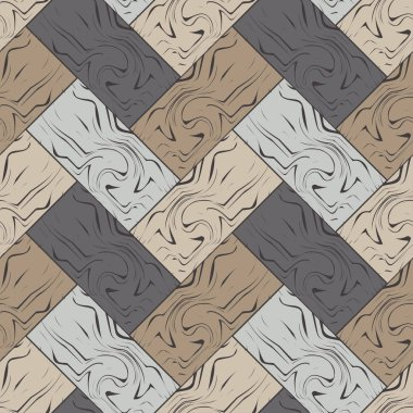 Trendy seamless pattern designs. Brown floor with wooden texture. Vector geometric background. Can be used for wallpaper, textile, invitation card, wrapping, web page background.