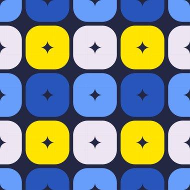 """Картина, постер, плакат, фотообои """"формы квадратов с закругленными углами. бесшовный шаблон. векторный геометрический фон. векторная иллюстрация для веб-дизайна или печати ."""", артикул 313521404"""