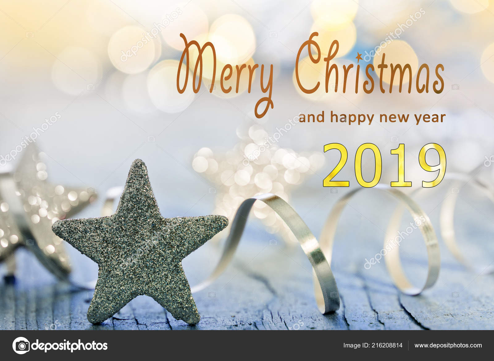 Christmas Background Merry Christmas Happy New Year 2019 — Foto de ...