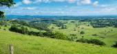 Byron Shire krajina v létě. V Austrálii