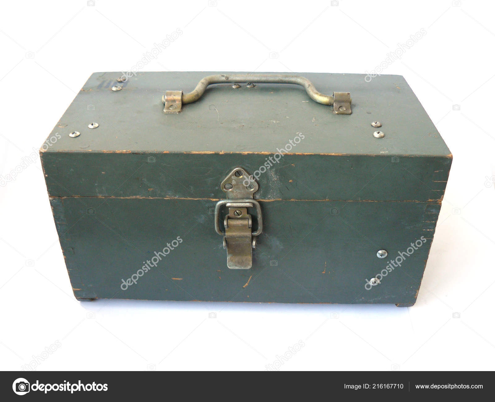 Wooden Box Vintage Box Small Box Old Box Antique Box Stock Photo