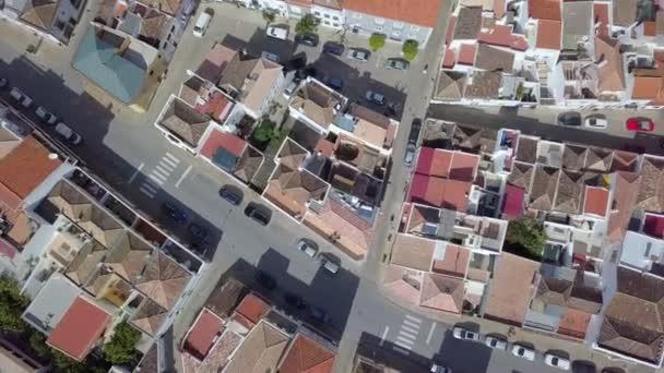 A légi felvétel a lakó része Tavira, Algarve, Portugália