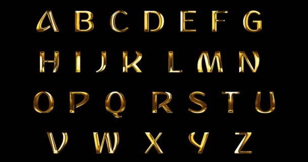 vintage yellow gold metallic alphabet letters word text series symbol sign on black background, concept of golden luxury alphabet decoration text