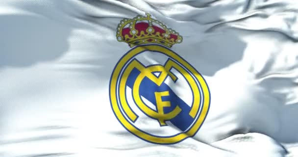 ac4393da1ac Madrid Spain April 2018 Champion League Waving Fabric Texture Flag — Stock  Video