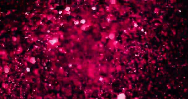karácsonyi lila lila színátmenet szikrázó csillám robbanás átmenet por felső fekete háttér, bokeh áramló mozgás, nyaralás boldog új évet és Valentin-napi szerelmes kapcsolat fogalma