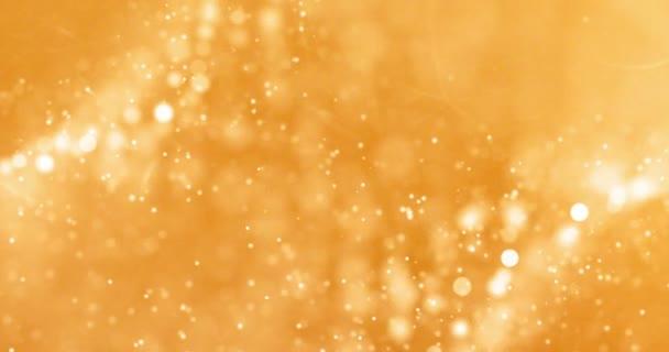 Vánoční zlaté přechodu sparkle třpytky prachové částice shora na černém pozadí s bokeh plynulý pohyb, zlatá dovolená šťastný nový rok a Valentýna den lásky, vztah koncepce