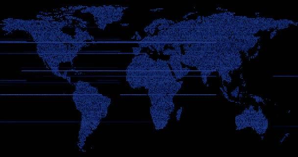 vykreslování 3D digitální modrá mapa zemi světa, s záře body připojení bodu a internet media technologie globalizace koncepce sítě, některé prvky tohoto obrázku jsou podle Nasa