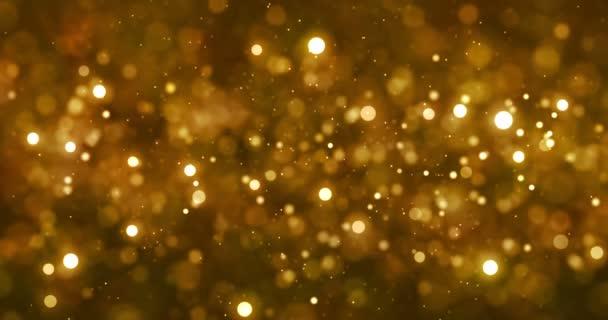 karácsonyi digitális csillogó arany részecskék bokeh arany háttér, ünnep karácsony ünnepi boldog új évet esemény a folyó szikra