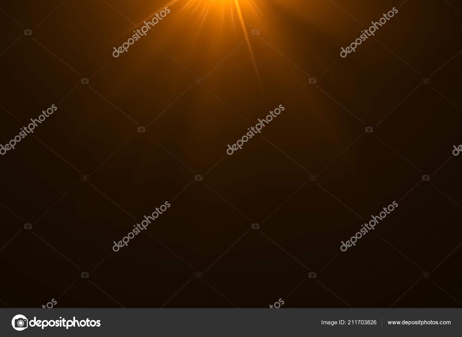 Gouden warme kleur lichtsterke lens flare stralen lichtflitsen lek