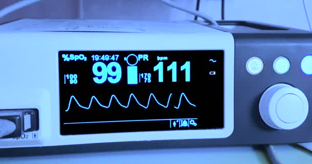 electrocardiogram ecg in hospital surgery operating emergency room showing patient heart rate, health care
