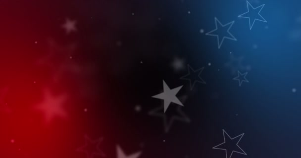 american USA flag close-up, stars and stripes, united states of america on blue and red