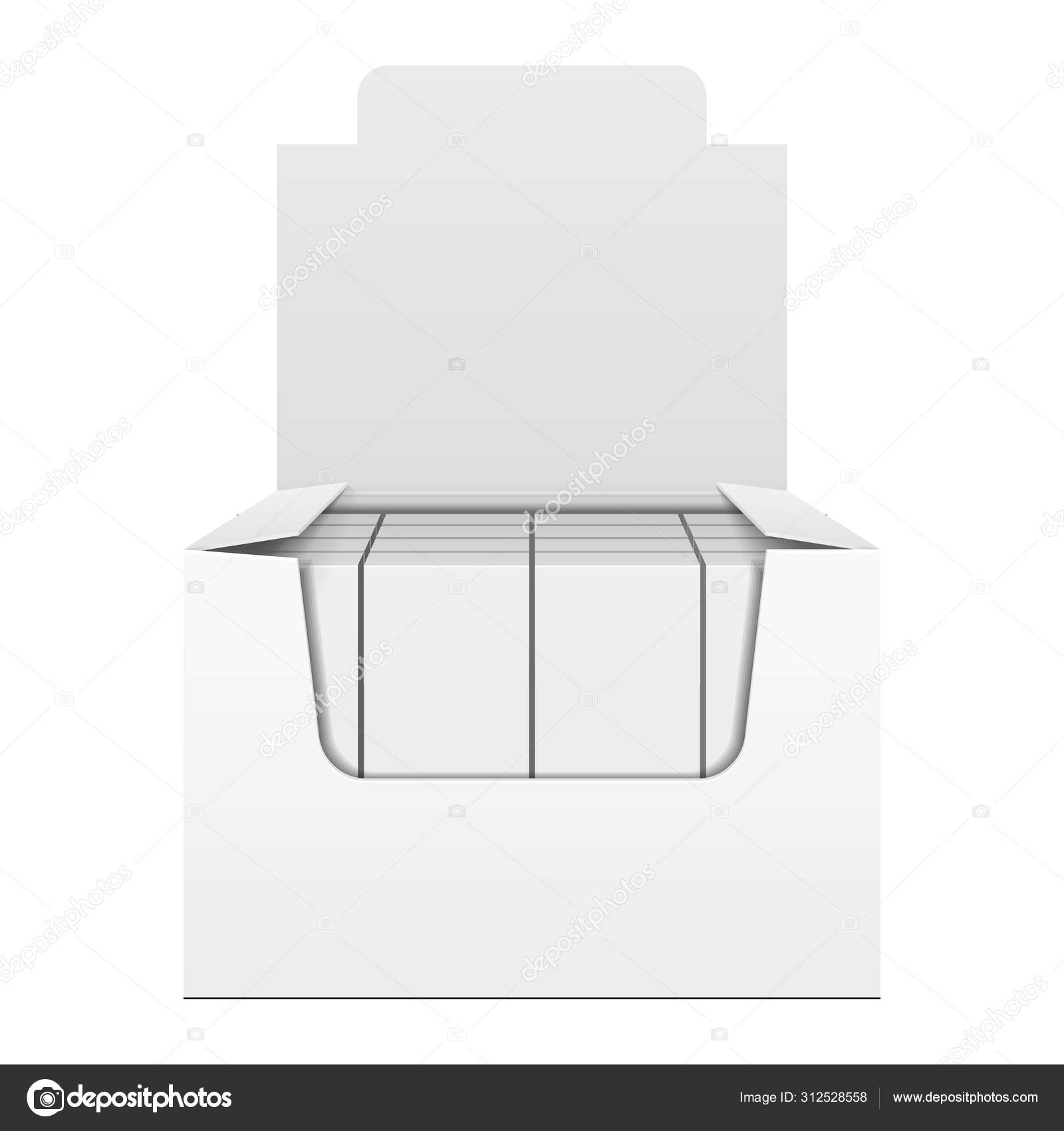 Mockup Display Holder Box Cardboard Filled Blank With Package