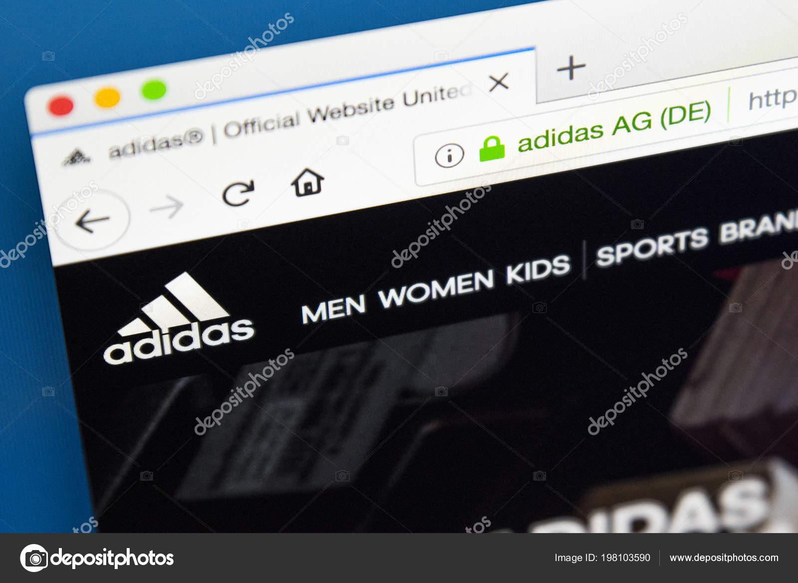 f8745a64c5326 Londres Reino Unido Mayo 2018 Página Web Página Oficial Adidas ...