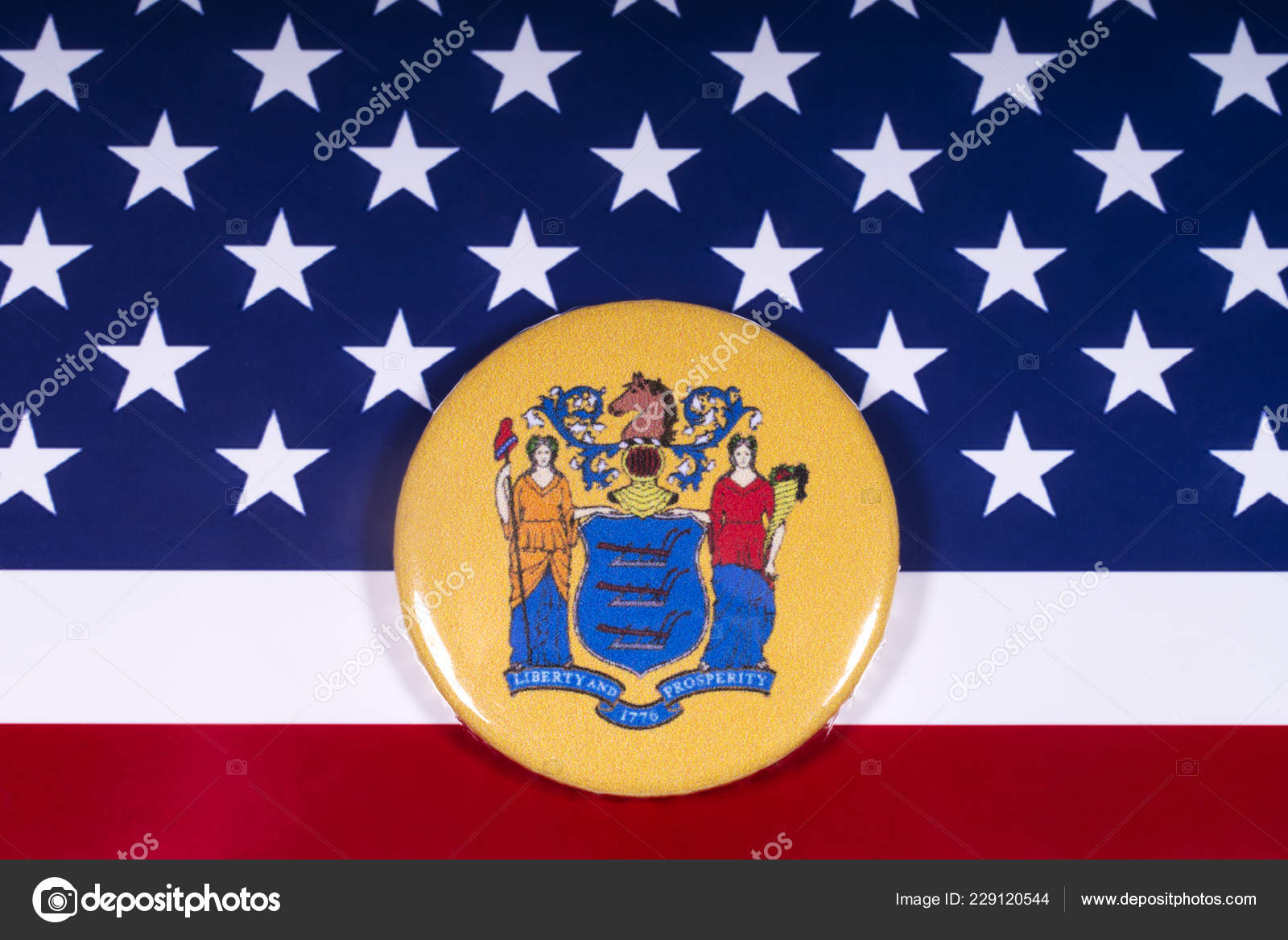 London November 15Th 2018 Coat Arms State New Jersey
