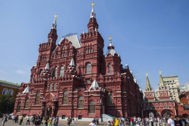 Moscow, Russia - August 14th 2011: A view of the State Historical Museum located on the famous Red Square in the city of Moscow, Russia.