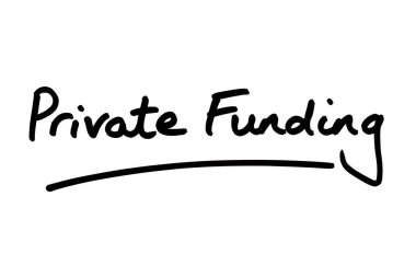 Private Funding handwritten on a white background.