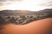 Fotografie Panoramic landscape photo views over the kalahari region in South Africa