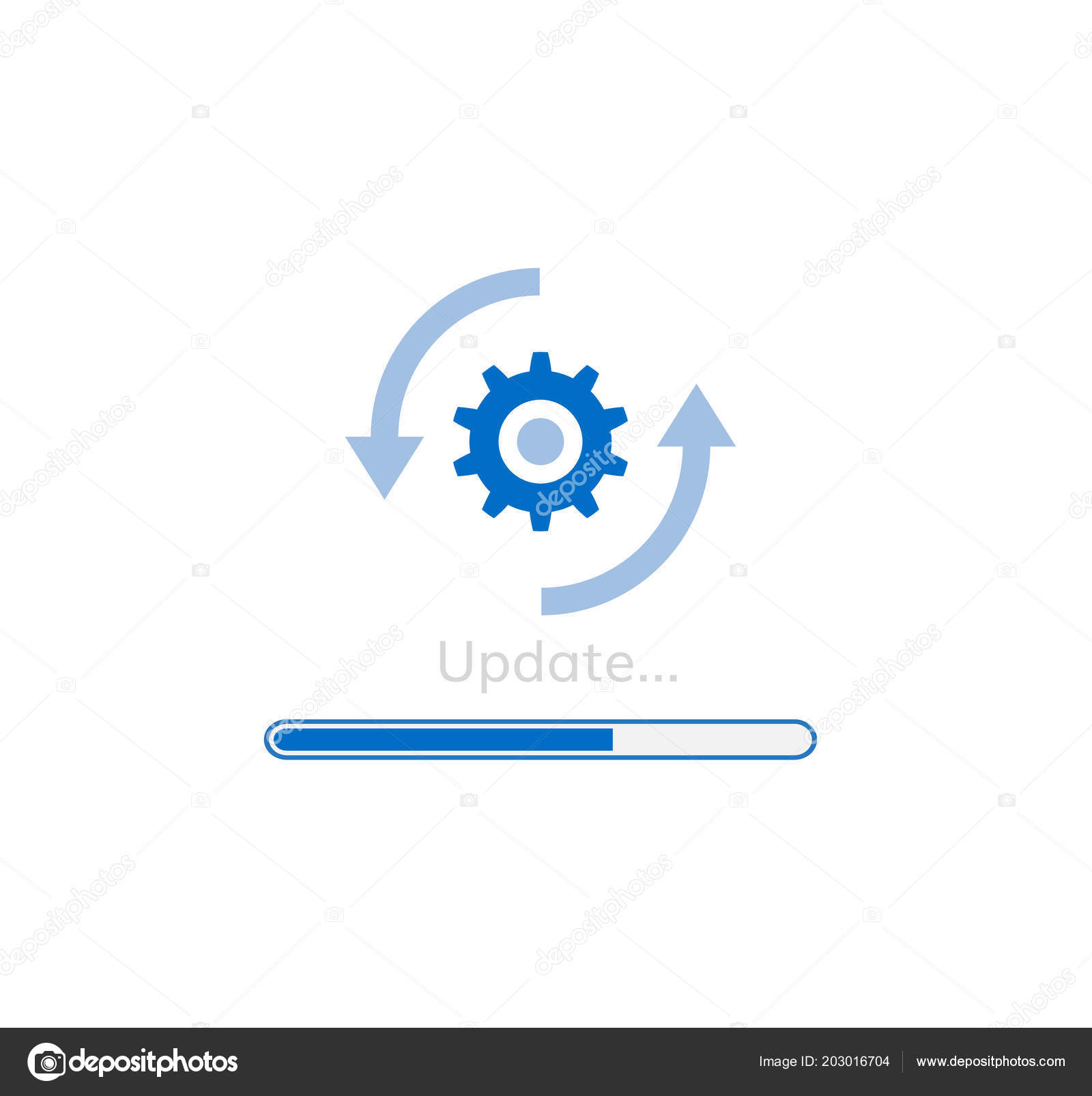 Upgrade Software Icon Update Program Stock Vector