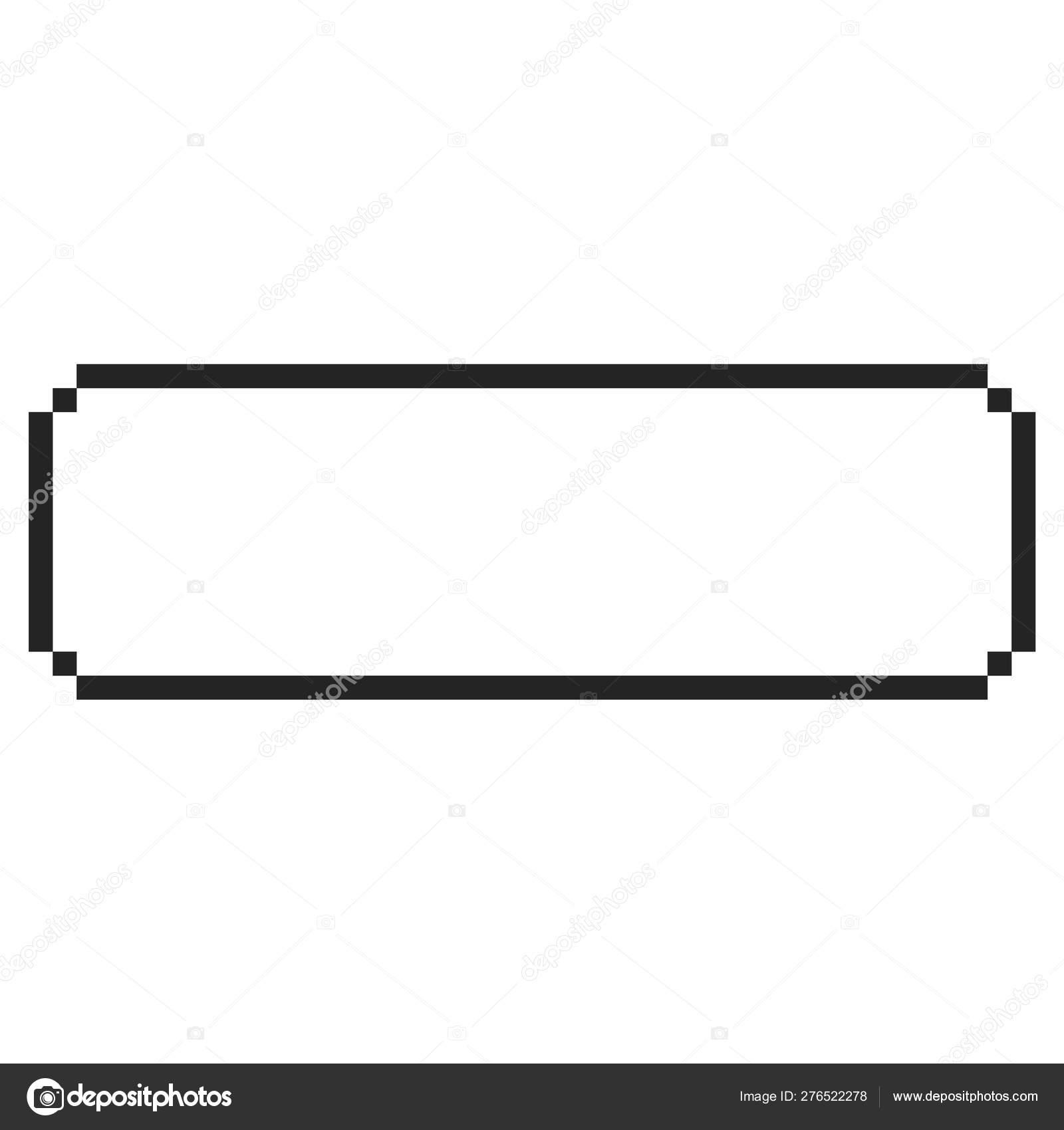 8 bit frame   Vector pixel border   — Stock Vector