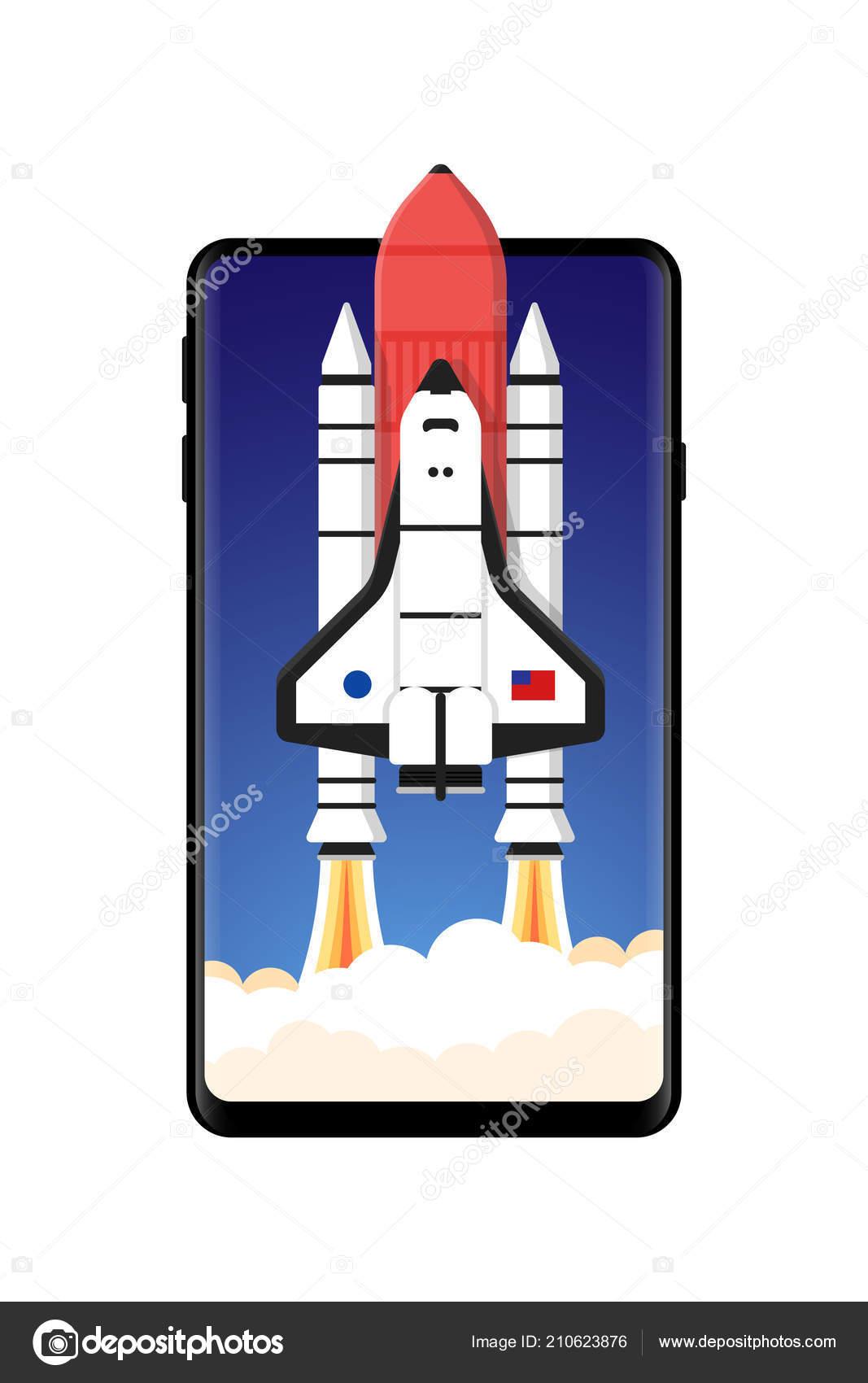 Illustrazione Sfondi Per Telefono Cielo Telefono Cellulare Razzo