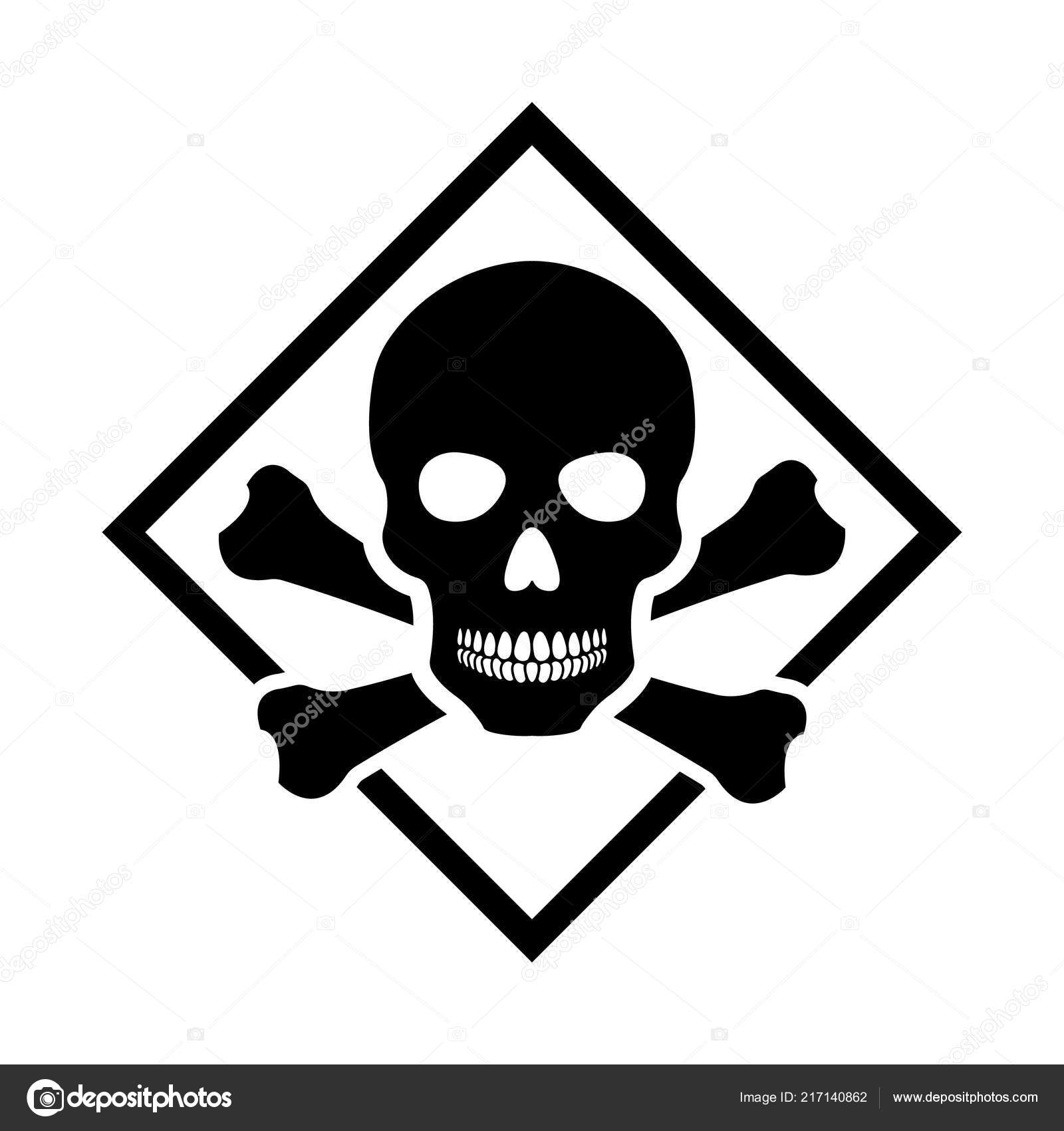 Toxic Safety Hazard Danger Harmful Malware Virus Sign Illustration